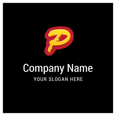 Alphabetical logo design with creative typography vector