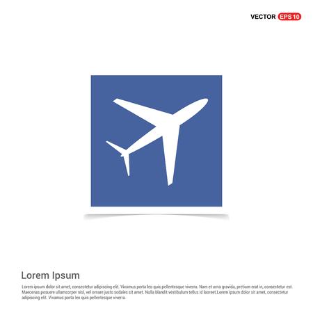 Airplane icon - Blue photo Frame Illustration
