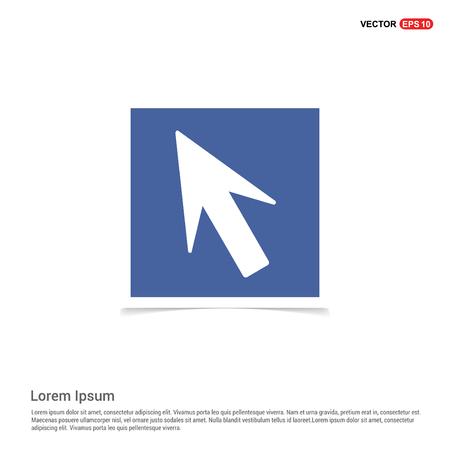 Mouse cursor icon - Blue photo Frame
