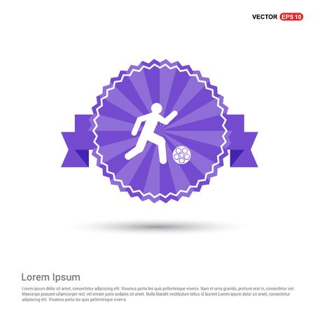Football Player Icon - Purple Ribbon banner