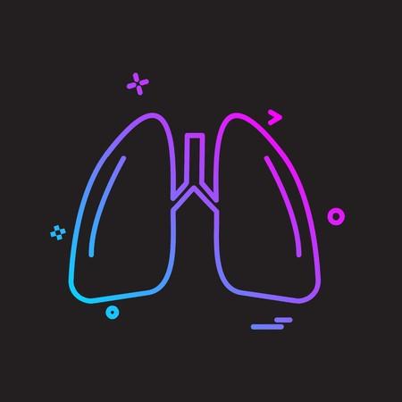Lungs icon design vector
