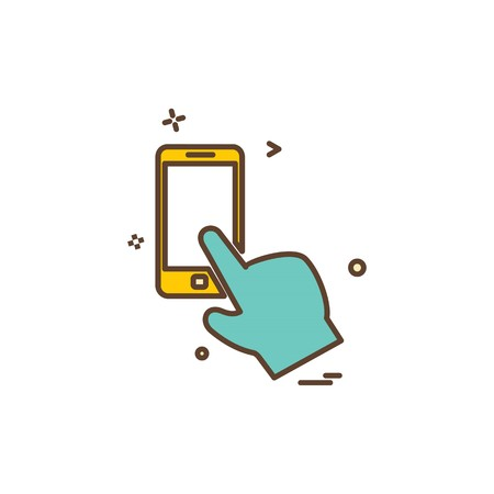 Artificial intelligence smart phone icon vector design  イラスト・ベクター素材