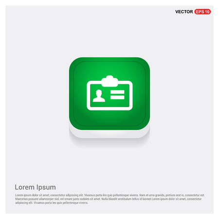 Personal ID Card Icon Vecteurs