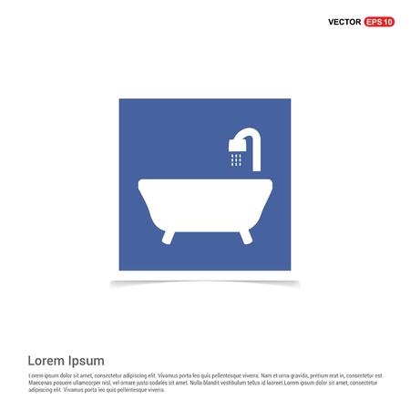 Bath Tub Icon - Blue photo Frame Ilustração