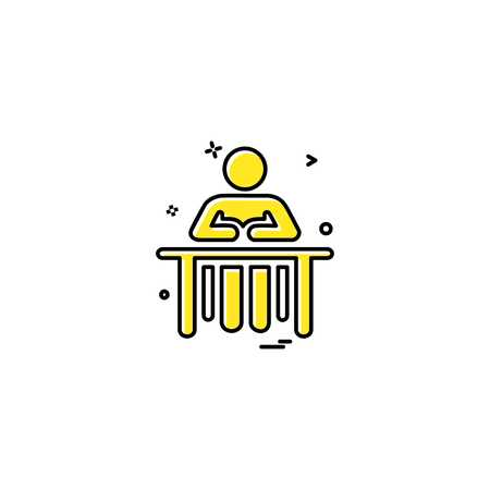 administrative desk reception icon vector desige