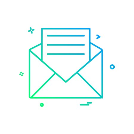 Email icon design vector