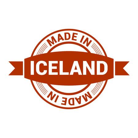 Iceland stamp design vector Vetores