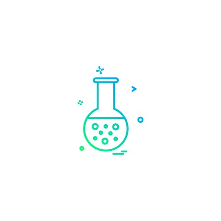 `Flask icon design vector