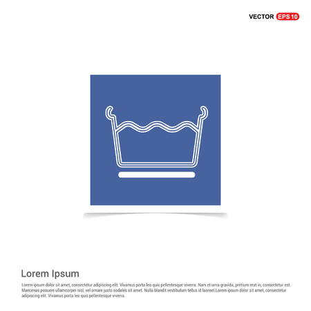 Laundry symbols icon - Blue photo Frame