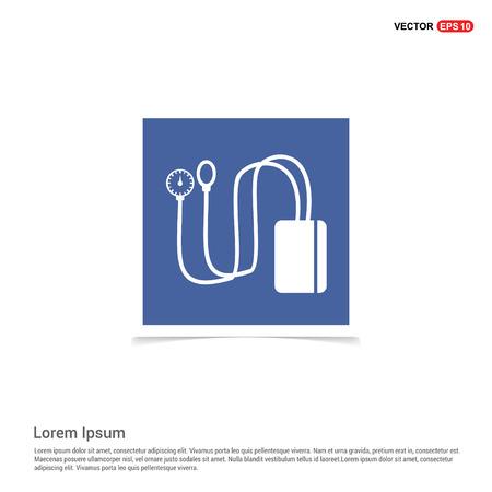 Contour medical mechanical tonometer icon - Blue photo Frame