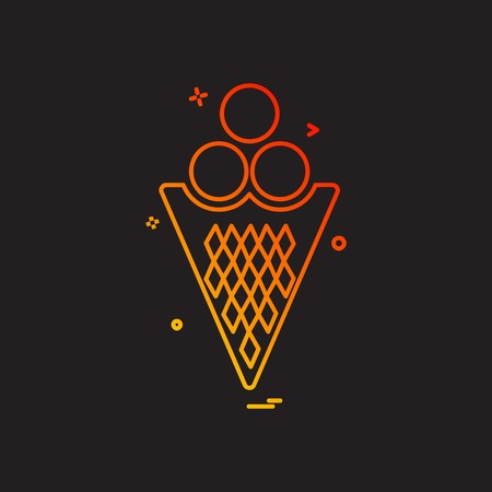 Icecream icon design vector