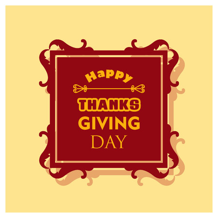 Happy Thanks Giving day design vector Stock Illustratie