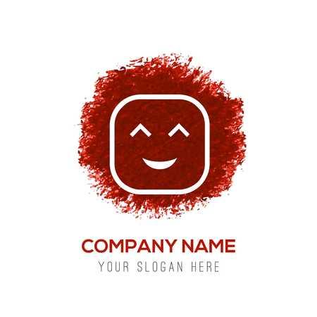 smiley icon, Face icon - Red WaterColor Circle Splash Illusztráció