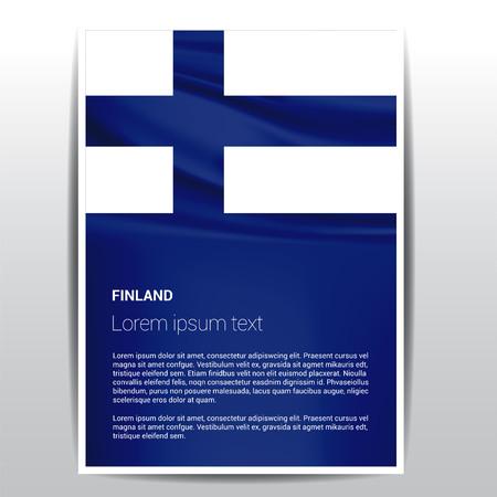 Finnland Flagge Designvektor Vektorgrafik