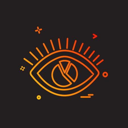 Eye icon design vector Foto de archivo - 118259306