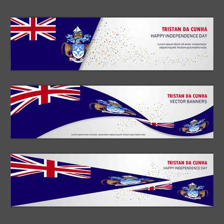 Tristan da Cunha independence day abstract background design banner and flyer, postcard, landscape, celebration vector illustration