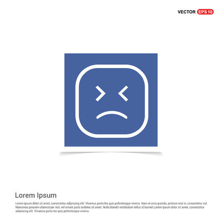 smiley icon, Face icon - Blue photo Frame