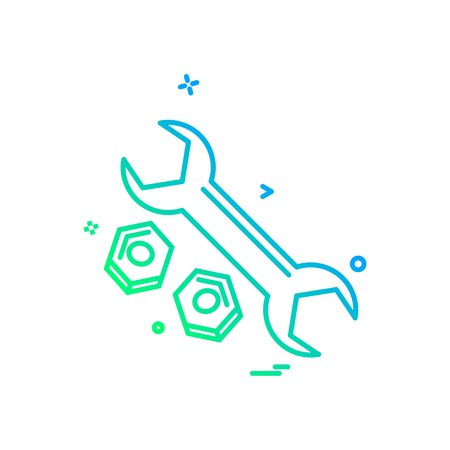 wrench net icon vector design