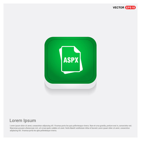 file type iconsGreen Web Button - Free vector icon