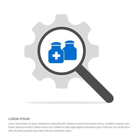 medicine bottles icon - Free vector icon Ilustracje wektorowe