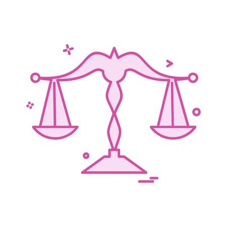 Libra icon design vector