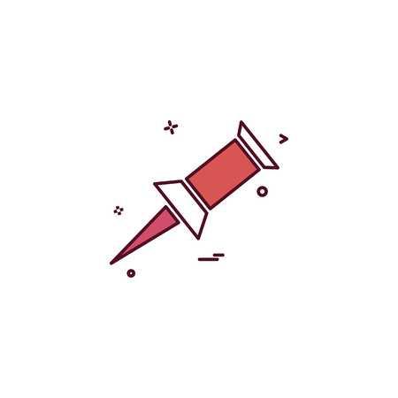 paper pin icon vector design Stock Illustratie