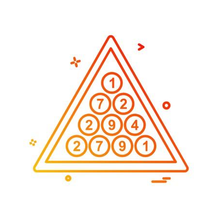 Snooker icon design vector