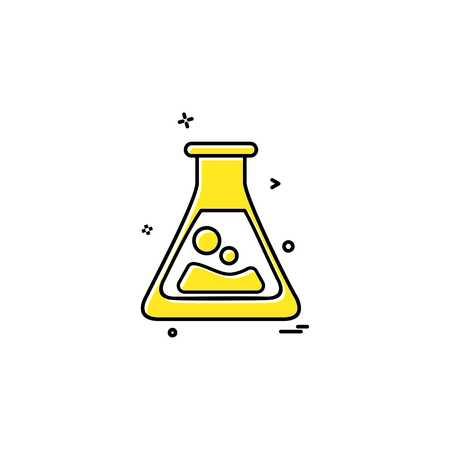 flask lab icon vector design Foto de archivo - 118260489