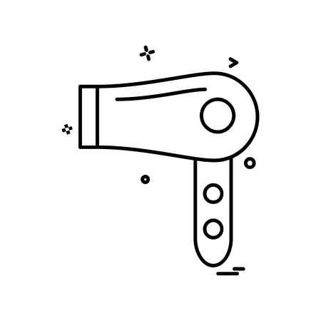 Dryer icon design vector