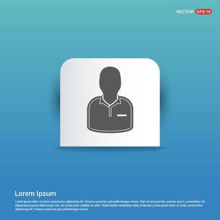 Football Referee Icon - Blue Sticker button