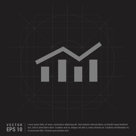 Business graph icon - Black Creative Background - Free vector icon Illustration