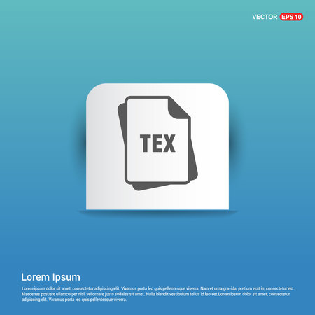 file type icons - Blue Sticker button
