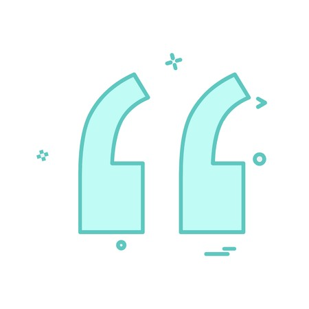 Double quotes icon design vector