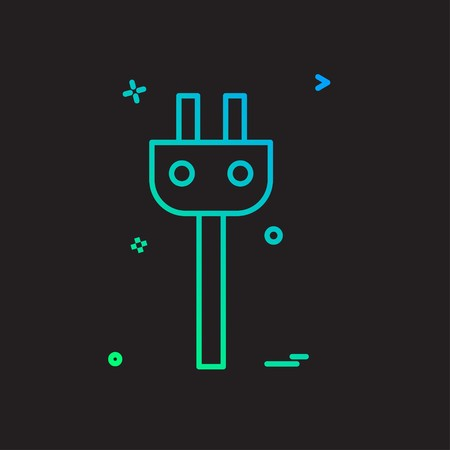 power plug icon design vector