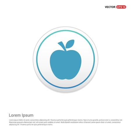 Apple fruit icon - white circle button Stock Vector - 110558037