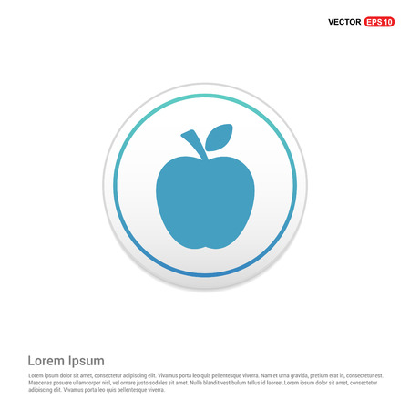 Apple fruit icon - white circle button