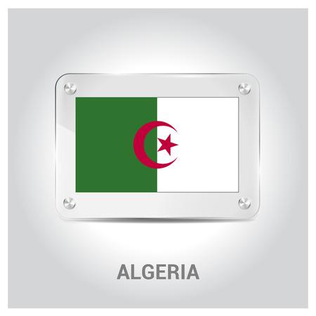 Algeria flag design vector
