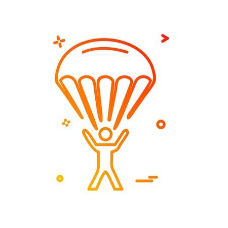 parachute icon design vector