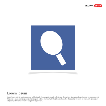 racket icon - Blue photo Frame