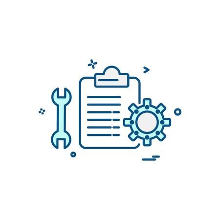 Mechanical Checklist icon design vector Vektorgrafik