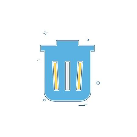 Dustbin icon design vector 向量圖像