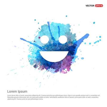 Emoji icon - Watercolor Background