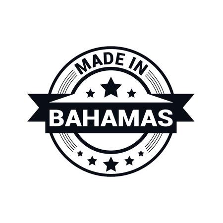 Bahmas stamp design vector Ilustrace