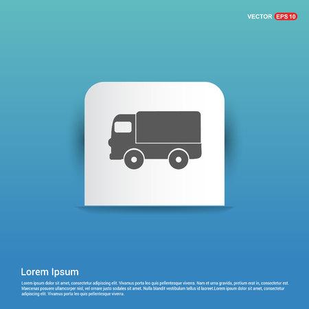 Truck icon - Blue Sticker button