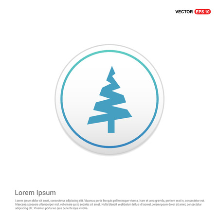 X-Mas Tree Icon - white circle button