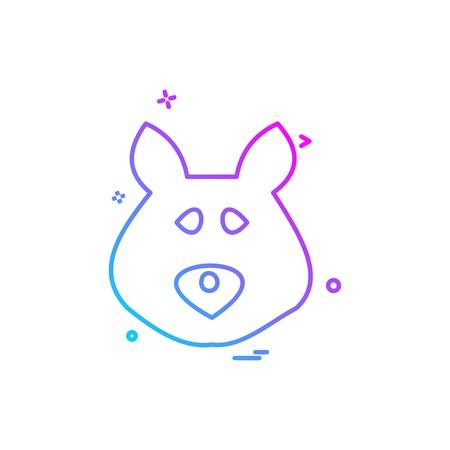Bear icon design vector Stock Vector - 110590411