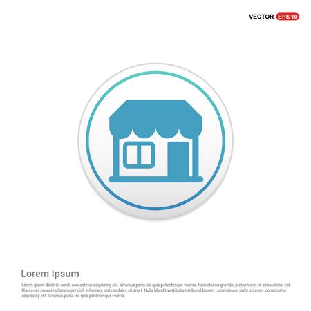 house icon - white circle button