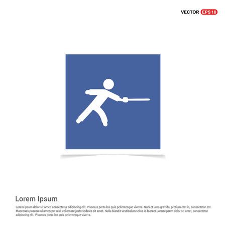 Swordman Icon - Blue photo Frame