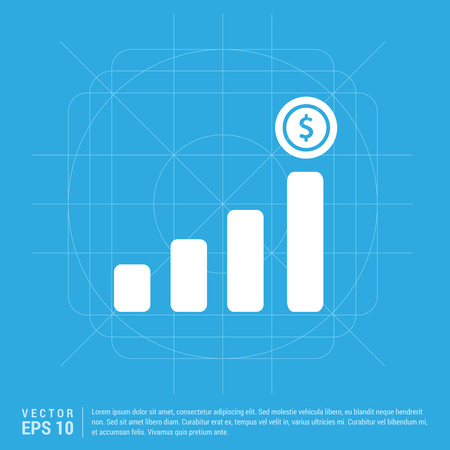 Presentation on business growth icon