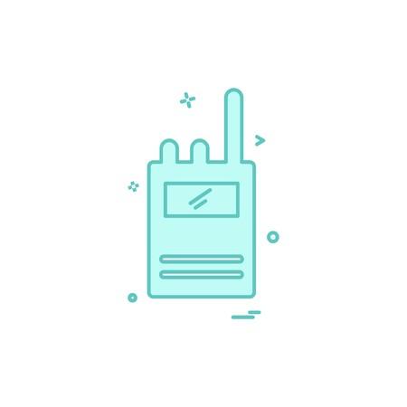 Walkie talkie icon design vector